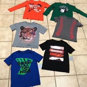 6 pc bundle boys T -shirt TEK GEAR PLace sz 7-8 y